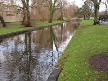 River Itchen in Winchester before improvements