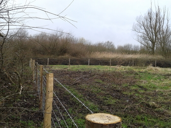 New fencing at south east corner of Fishlake Meadows