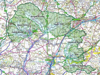 Watercress and Winterbournes catchment areas map