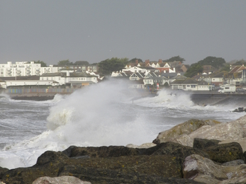 Milford on Sea the morning after Storm Ciara © Trudi Lloyd Williams