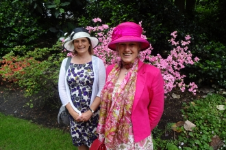 Catherine Chatters and Jo Gore at the Royal Garden Party