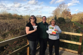 Donation from Romsey Park Cafe for Fishlake Meadows