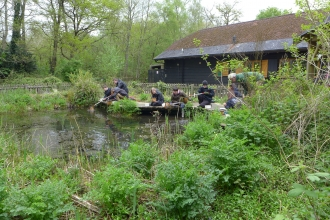 Young Naturalists Pond Dipping at Blashford
