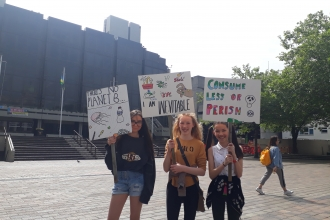 young people on climate strike, Portsmouth