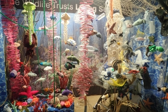 Knitted marine species for Guardians of the Deep © Kent Wildlife Trust