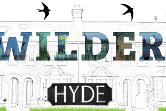 Wilder hyde logo showing a drawing of residential street with Wilder lettering superimposed.
