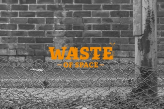waste of space logo on grey background