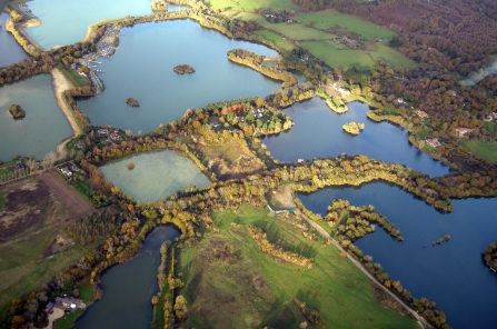 Blashford Lakes nature reserve aerial © Keith Betton