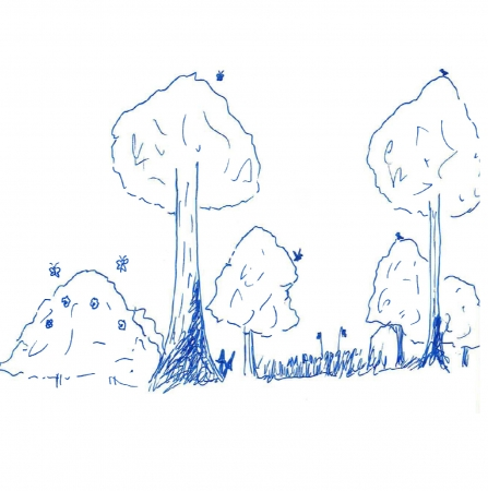 Thinned woodland diagram
