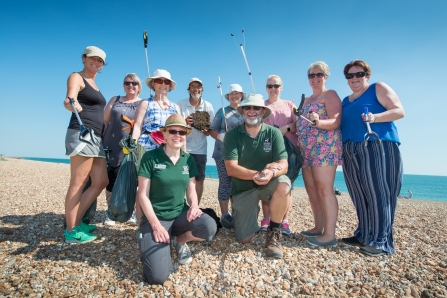 Hayling Island beach clean organised by Southern Co-op