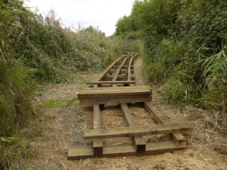 New boardwalk to Lapwing Hide under construction
