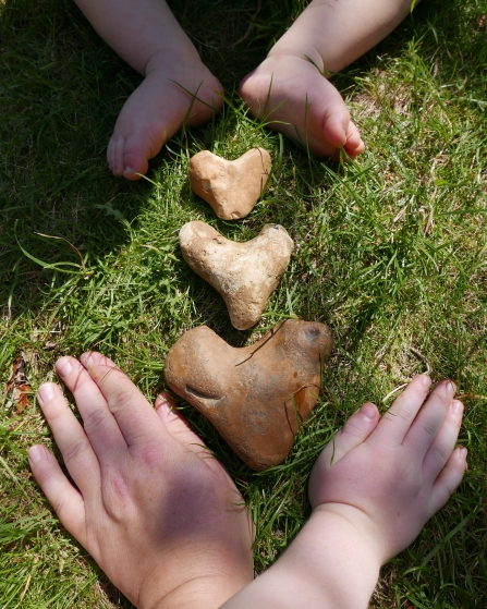 Heart shaped stones © Gemma Paul