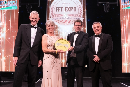 Alison Cross -  Arable adviser of the year at the farmers weekly awards