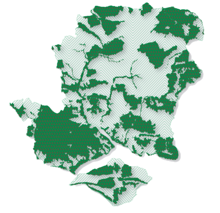 Local ecological network map for Hampshire