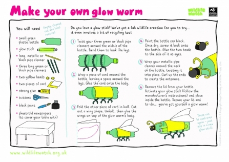 Make your own glow worm activity sheet