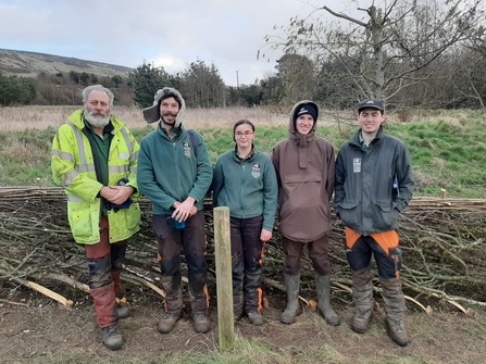 Woodland Apprentices at the Isle of Wight Hedgelaying Competition 2020 © HIWWT