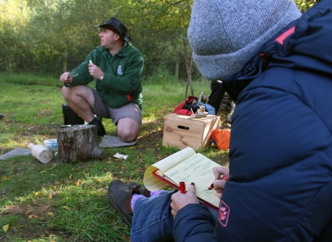 Forest School training © Lianne de Mello