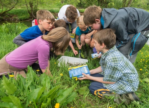 Children outdoor learning © Ross Hoddinott/2020VISION