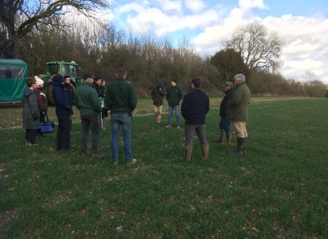 Wallop Brook farms receiving soil training